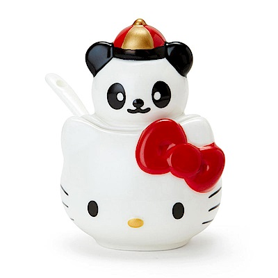 Sanrio HELLO KITTY中華飯店系列造型陶磁調味粉罐