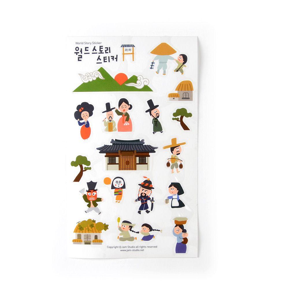 Jamstudio 世界地標旅遊貼紙-02 朝鮮