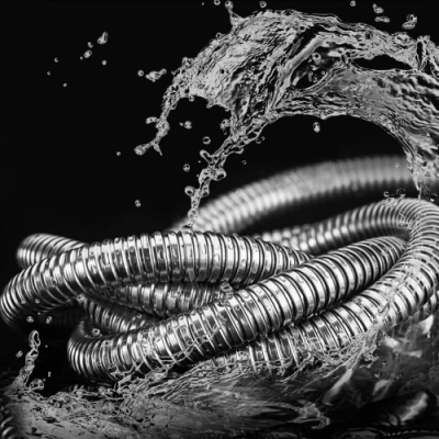 (超值二入)莫菲思 1.5M不鏽鋼防爆加密浴室軟管/大流量水管 蓮蓬頭配件