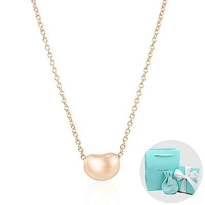 Tiffany&Co. Elsa Peretti 經典優雅相思豆18K玫瑰金項鍊