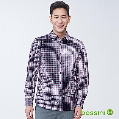 bossini男裝-純棉長袖襯衫04玫瑰色