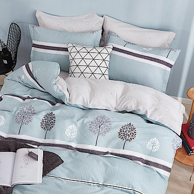 La Lune 台灣製100%40支精梳純棉雙人床包被套四件組 森林秘境