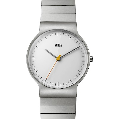 BRAUN德國百靈 極簡超薄設計 石英不鏽鋼錶 -銀白色/38mm