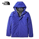 The North Face北面男款藍色防水保暖戶外三合一外套 3VSJQB1