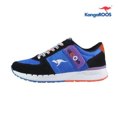 KangaROOS COMBAT- CB 經典口袋男慢跑鞋 藍黑 KM91036
