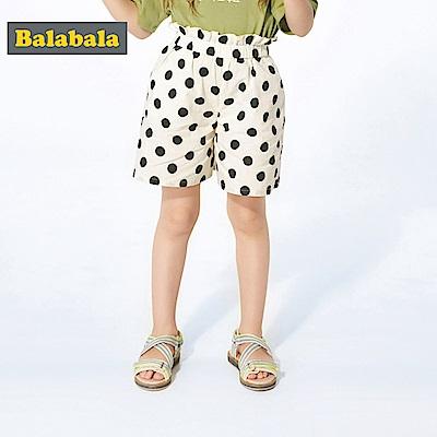 Balabala巴拉巴拉-復古腰間荷葉邊造型短褲-女(3色)