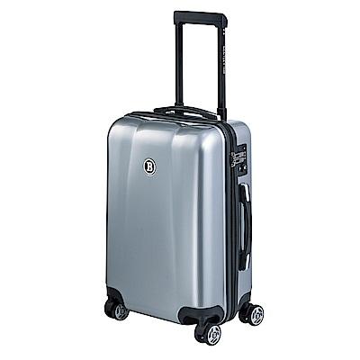 BENTLEY 20吋 PC+ABS 蜂巢纹拉鍊款輕量行李箱 -銀