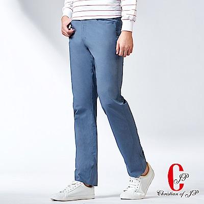 Christian-簡約時尚水洗運動牛仔款休閒褲