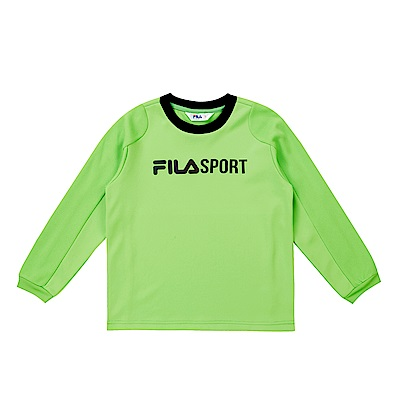 FILA KIDS 童吸濕排汗長袖上衣-黃綠 1TES-8302-LM
