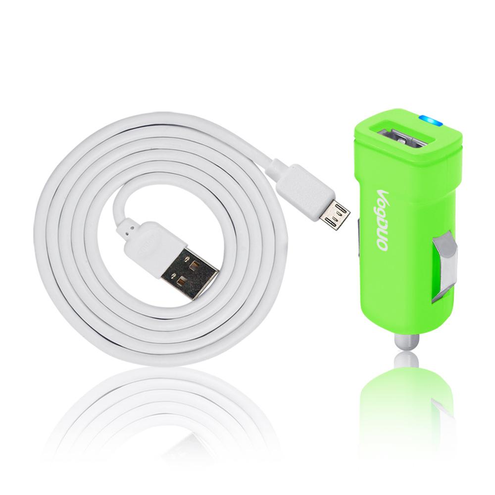 (福利品)VogDUO PK115-G 車用USB迷你型充電組(商品完整/外盒小瑕疵)
