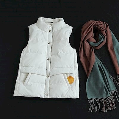 寬鬆短版羽絨服馬甲麵包服-Y5031-設計所在