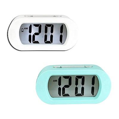 KINYO 北歐風超大螢幕LCD電子鬧鐘(顏色隨機)