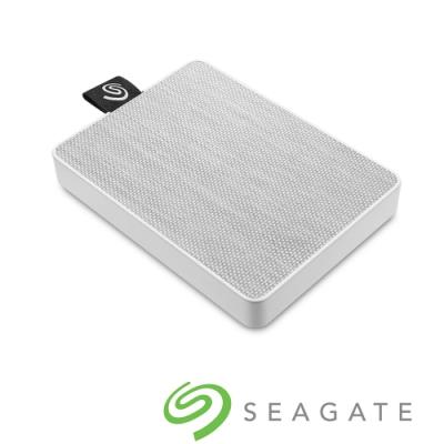 Seagate One Touch 1TB 外接式固態硬碟-晨霧白