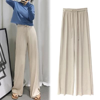 【韓國K.W.】(預購)美型春光明媚長版寬褲