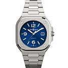 Bell & Ross BR 05系列時尚機械錶-藍/鋼