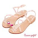Grace gift-美少女戰士月光菱鏡繞帶涼鞋 粉