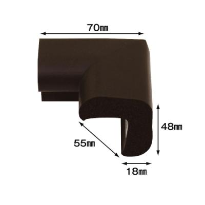【日本CAR-BOY】尖角防護軟墊(大)(棕)(幫危險尖角加上柔軟防護)