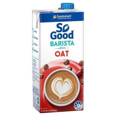 (任選賣場)[澳洲 SO GOOD] Barista系列 咖啡師燕麥奶 (1000ml) (全素)