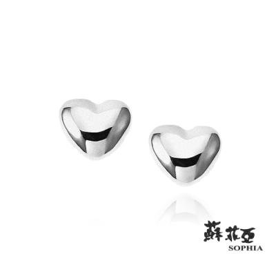 蘇菲亞SOPHIA - 愛心純銀耳環