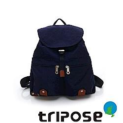 tripose MEMENTO系列微皺尼龍輕量防潑水後背包-大(深海藍)