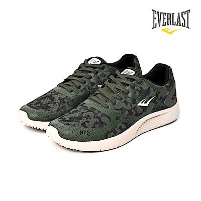EVERLAST 美國運動品牌-輕量避震跑鞋-男-綠迷彩