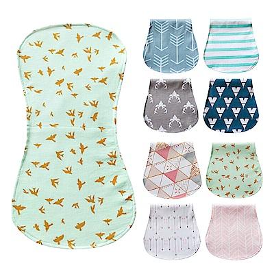 JoyNa 嬰兒餵奶巾 三層防水打嗝巾-隨機4入