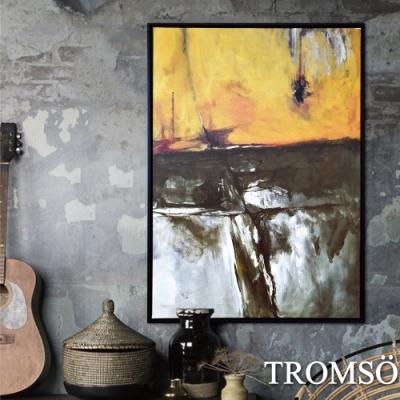 TROMSO 時尚風華抽象有框畫大幅-金碧磐石W959