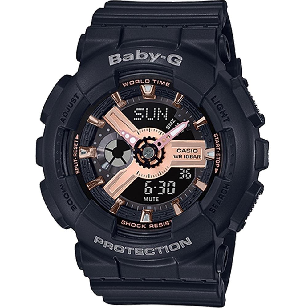 CASIO卡西歐 Baby-G 雙顯運動錶(BA-110RG-1A)