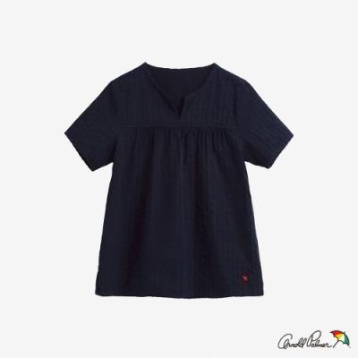 Arnold Palmer-女裝-直條紋提織A-line上衣-藍