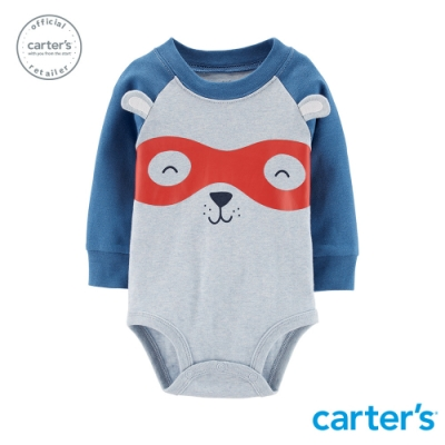 Carter's台灣總代理 超人小熊造型包屁衣(藍)
