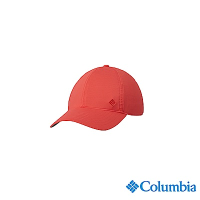 Columbia 哥倫比亞中性-UPF50涼感快排棒球帽-橘紅UCU01260AH