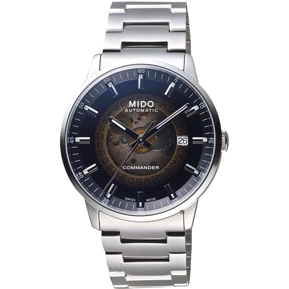 MIDO 美度 COMMANDER 香榭系列漸層機械錶-40mm M0214071141100