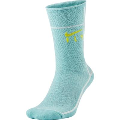 Nike SNKR SOX Swoosh Fly 運動長襪-綠-CU5855310
