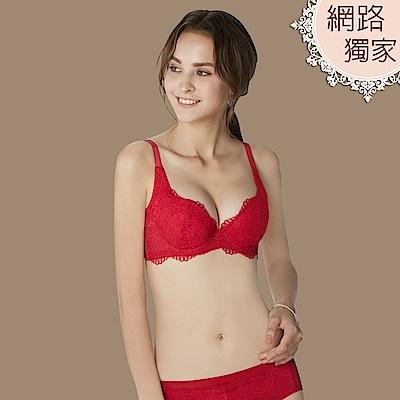 曼黛瑪璉 包覆提托經典B-F罩杯內衣(玫瑰紅)