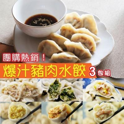 鮮食煮藝 爆汁豬肉手工水餃X3包