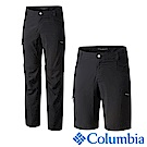 Columbia哥倫比亞 男款-防曬UPF50防潑二截式長褲-黑UAM1589