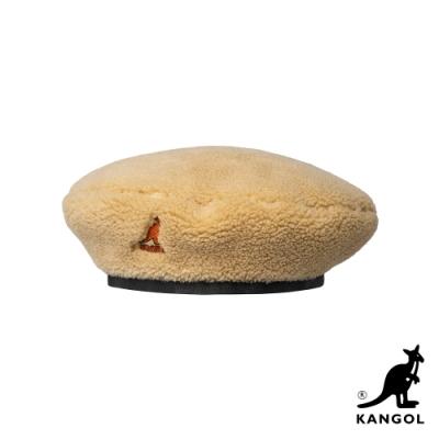 KANGOL-PLUSH 貝蕾帽-米色