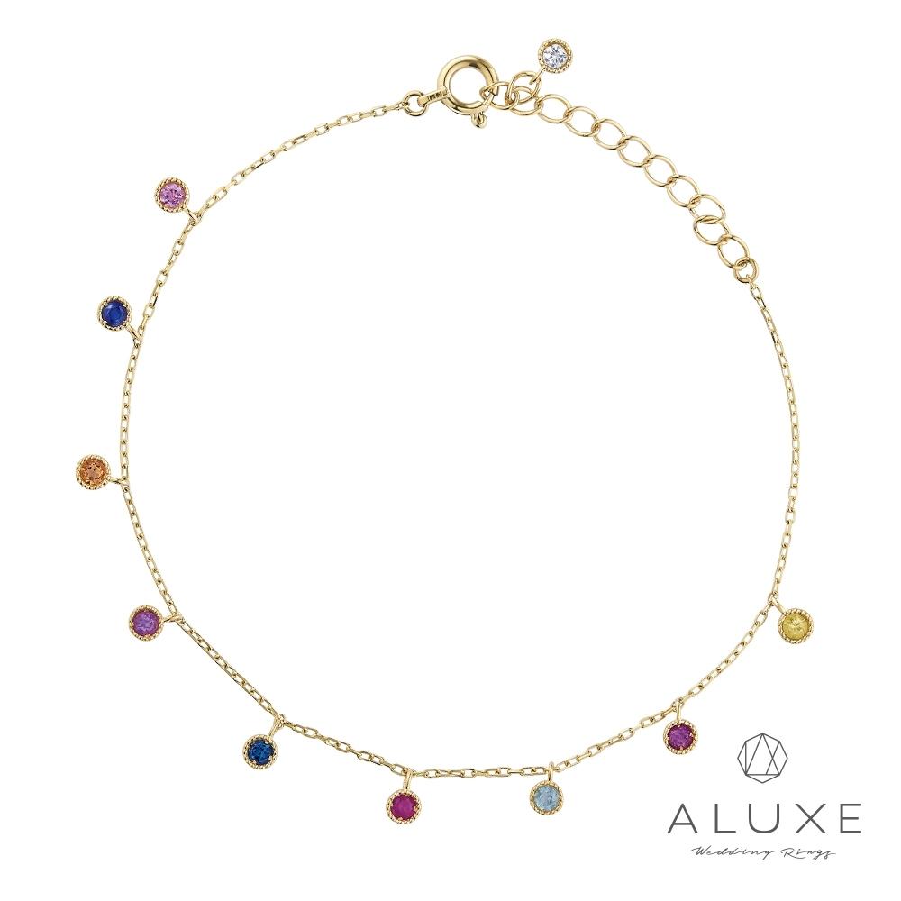 ALUXE 亞立詩 10K繽紛彩色寶石手鍊