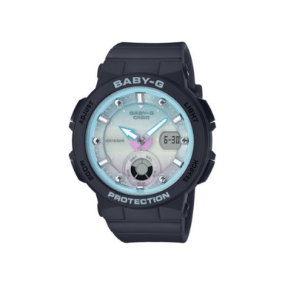 CASIO卡西歐 BABY-G系列 人氣女錶 (BGA-250-1A2)-藍/41.0mm