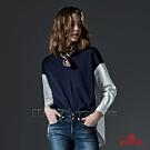 BRAPPERS 女款 異材質拼接造型上衣-深藍