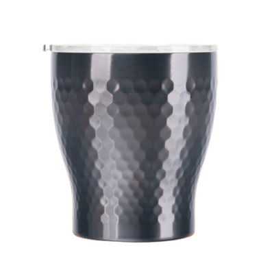 Tiamo 真空錘紋陶瓷隨手杯230ml-鈦黑色(HE5164TBK)