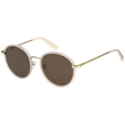 Salvatore Ferragamo 韓版圓框 太陽眼鏡 (米配金)