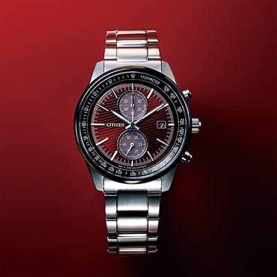 CITIZEN 星辰 東京紅限量版 計時碼錶腕錶 CA7034-96W