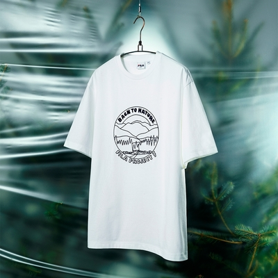 FILA #Back To Nature 短袖圓領T恤-白色 1TEV-1231-WT
