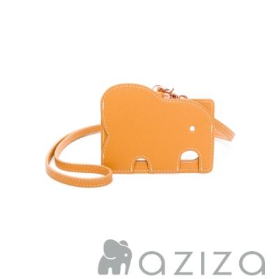 aziza 小象證件套 -秋杏黃