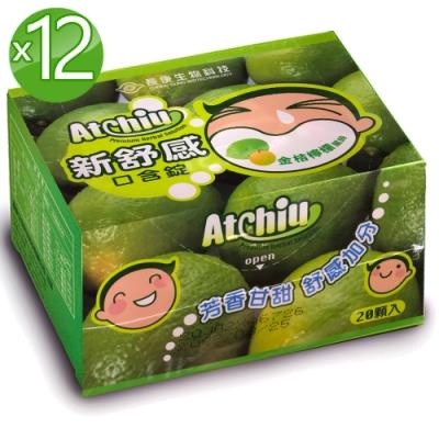 長庚生技 新舒感12盒_金桔檸檬口味(20顆/盒;每顆3.5g)