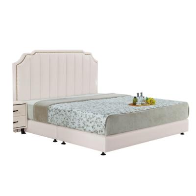 文創集 法蕾吉5尺床台(二色+床頭片+床底+無床墊)-154x199x127cm免組