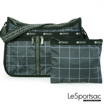 LeSportsac - Standard雙口袋A4大書包-附化妝包 (冬季格紋)