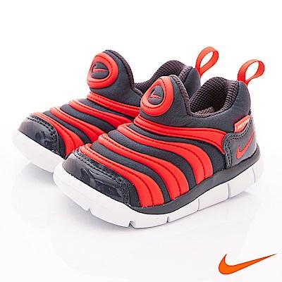 NIKE 毛毛蟲休閒童鞋 3938-015灰紅(寶寶段)