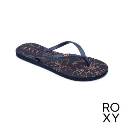 【ROXY】VIVA STAMP II 拖鞋 藍色